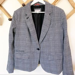 Merona Houndstooth Size 16 One Button Blazer EUC
